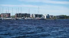 Yachts Marina Stock Footage