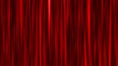 4k red curtain waving animation silk velvet Stock Footage