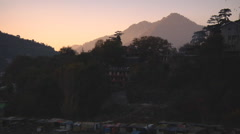 Sunset at Kullu town in Himachal Pradesh, India. Stock Footage