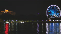 Brisbane Big Wheel at night 4K Stock Footage