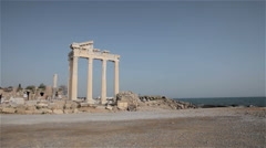 THE APOLLO TEMPLE SIDE TURKEY Stock Footage