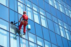 Windows cleaning service Stock Photos
