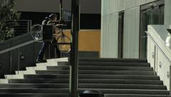 Bike Commuter - stock footage