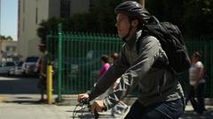 Bike Commuter Stock Footage