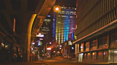 Beautifully lit alleyway vibrant lights 4K Stock Footage