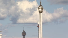 Grona Lund amusement park, Stockholm Stock Footage