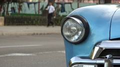 Cuba La Habana Havana Closeup Of Vintage Car Hood 4K Stock Footage