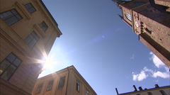 Riddarholm church in Stockholm Stock Footage