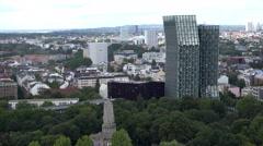 Hamburg aerial, Tango Towers Stock Footage