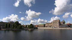 Timelapse, Parliament House in Stockholm Stock Footage