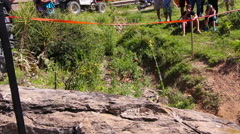 Extreme off road competition. Close up footage of truck during the competition. Stock Footage