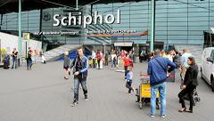 Amsterdam Airport Schiphol, Amsterdam, Netherlands, - stock footage