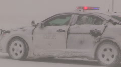 Stock Video Footage of Snowstorm and severe blizzard with car accidents and crash scenes