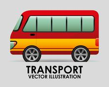 transport vehicle design, vector illustration eps10 graphic - stock illustration