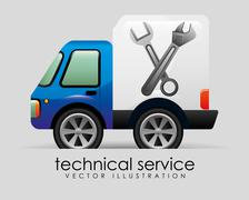 technical service design, vector illustration eps10 graphic - stock illustration