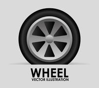 Wheel tire design, vector illustration eps10 graphic Piirros