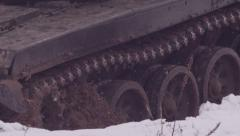 Chassis tank. 1280x720 slow motion. - stock footage