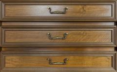 drawers of antique furniture - stock photo