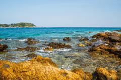Pattaya beach in koh larn,thailand Stock Photos