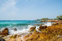 pattaya beach in koh larn,thailand - stock photo