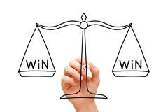 Win win scale concept Stock Photos