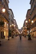 Zaragoza (aragon, spain) - calle alfonso i at the evening Stock Photos