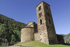 Sant joan de caselles (andorra) Stock Photos