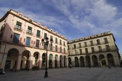 huesca (aragon), historic square - stock photo
