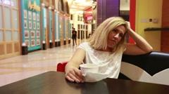 Sad woman Stock Footage