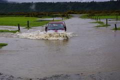 Through the floods Stock Photos