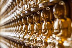 Buddha statues wat borom racha kanchana phisake (wat leng noei yi 2) Stock Photos