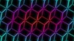 Neon Pattern 005 B Alternate Strength GTC 720p Stock Footage