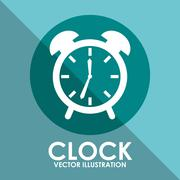 Stock Illustration of clock icon design, vector illustration eps10 graphic