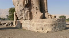 Colossi of memnon in Luxor Egypt - tilt view 4k Stock Footage