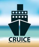 Stock Illustration of cruise icon design, vector illustration eps10 graphic
