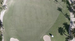 Golf field from above Stock Footage