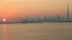 Dubai skyline of downtown burj khalifa Arkistovideo