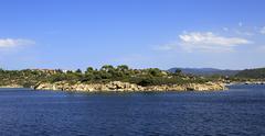 Sithonia peninsula in the Aegean Sea Stock Photos