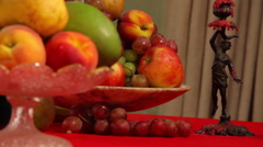 Candles Fruit wine - stock footage