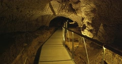4K Tourists in cave museum  Stock Footage
