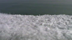 Waves, Speed Boat , Side View Stock Footage