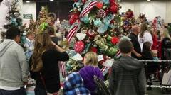 Christmas tree browsing 2 Stock Footage