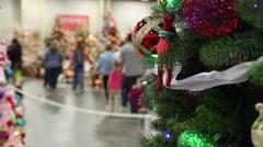 Christmas tree tight Stock Footage