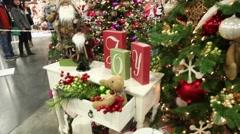 Christmas tree tilt up Stock Footage