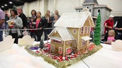 Gingerbread house dolly twist shot Stock Footage