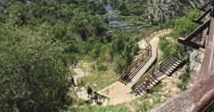 4K Krka nature park trail Stock Footage