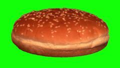 Hamburger bun rotating 01 Stock Footage
