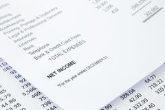 net income statement reports - stock photo