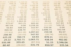 merchandising business income and expense report in sepia tone - stock photo