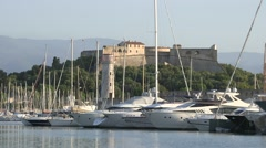 ANTIBES PORT YACHTS Stock Footage